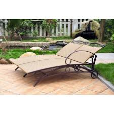 blazing needles  x  in outdoor double chaise lounge cushion