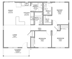 Small One Bedroom Apartment Floor Plans Floor Plan For Affordable 1100 Sf House With 3 Bedrooms And 2