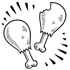 Small Picture Twin Drumstick Fried Chicken Coloring Pages Twin Drumstick Fried