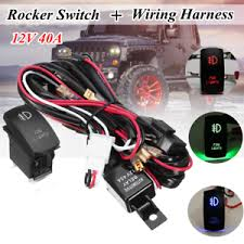 12v led fog light laser rocker on off switch wiring harness kit 40a image is loading 12v led fog light laser rocker on off