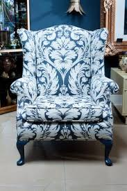 furniture blue upholstered accent chairs for vine living room decor