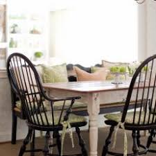 black windsor chairs. Black Windsor Chairs Around Country Dining Table C