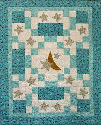 Sweet Dreams baby quilt with moon and stars. So sweet! is creative ... & Sweet Dreams baby quilt with moon and stars. So sweet! is creative  inspiration for Adamdwight.com