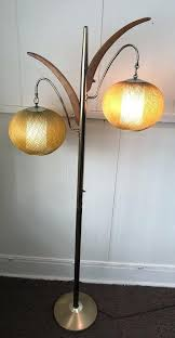 lamp mid century modern orange orb floor lamp industries near mint and chicago made