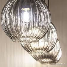 Glazen Eettafelhanglamp Met Smoke Glas Straluma