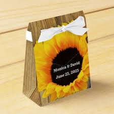 Rustic Sunflower Favor Boxes - #wedding gifts #marriage love couples |  Rustic wedding favor boxes, Rustic wedding favors, Country wedding