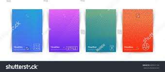 Cool Cover Designs Minimal Vector Covers Design Cool Halftone Gradients