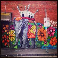 floral elephant by makatron melbourne street art graffiti on wall art melbourne street with 263 best city canvas images on pinterest street art urban art and