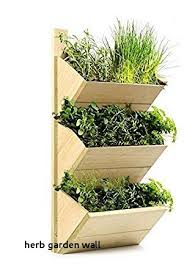 herb garden wall 3 tier wooden shelf planter high quality wall hanging growhouse
