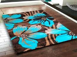 aqua area rug brown rugs teal chocolate