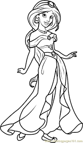 princess jasmine coloring pages for page free coloring and printable