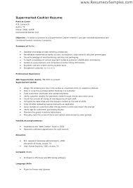 Cashier Resume Skills Amazing 6218 Example Resume For Cashier Skills For Cashier Example Free Sample