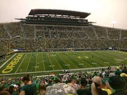 Autzen Stadium Section 16 Home Of Oregon Ducks