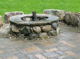 outdoor stone fire pit. Natural Stone Fire Pit Designs Outdoor Fireplaces Fireplace Plans