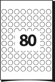 80 Labels Per Sheet Template Printing Template For Labels 19 Mm Diameter 80 Round Labels Per
