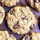 almond butter raisin cookies  vegan  gluten free