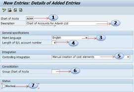 How To Create New Chart Of Accounts In Sap Chart Of