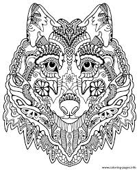Small Picture Cute Wolf Adult Mandala Grown Up Coloring Pages Printable