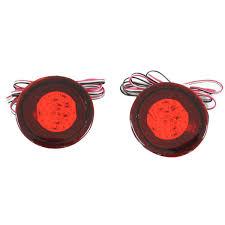 Red Lens LED Bulbs Car Styling Warning <b>Rear Bumper Reflector</b> ...