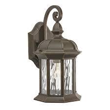 Shop Kichler Brunswick In H Olde Bronze Outdoor Wall Light - Kichler exterior lighting