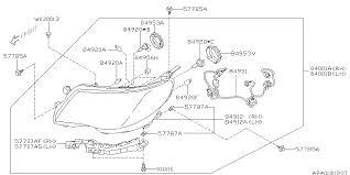 84001sc211 genuine subaru lamp assembly head left 2010 subaru forester head lamp diagram 840 01