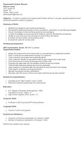 Cashier Resume Description publix cashier resume mattbrunsme 85