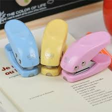 Effective stationery creative office supplies cute fresh single hole