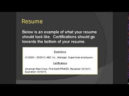CPR First Aid Certifications You NEED On Your Resume YouTube Delectable Cpr Certification On Resume