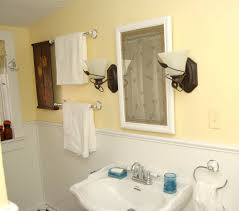 full bathrooms. Bathroom With Tub Shower And Sink, Full Bath Also Has Many Hooks For Hanging Towles Or Clothes. Bathrooms M