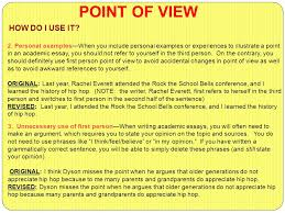point of view what why and how point of view refers to the 5 2