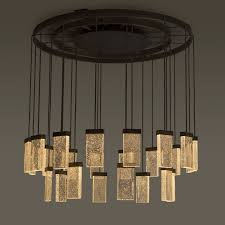 contemporary chandelier glass aluminum led 24 grand cru chandelier
