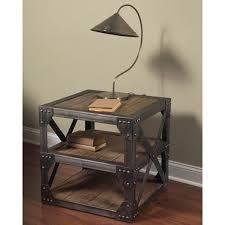 cool industrial furniture. Beautiful Industrial Cool Industrial End Table On Furniture Of America Thorne Antique Oak  In