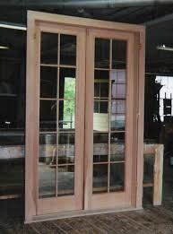 double french exterior door unit using double pane insulated glass with simulated mullions restoration project in pa interior