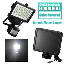 Solar Powered Motion Detector Security Lights Us 26 75 21 Off 100led Solar Powered Floodlight Spotlight Projector Lamp Infrared Motion Sensor Security Light Outdoor Lamp Pir For Garden In Solar