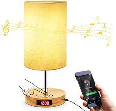 <b>USB</b> Touch Control Music <b>Table</b> Lamp, Stepless <b>Dimming</b> Bedside ...