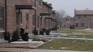 panning shot of altgeld gardens homes in chicago stock footage storyblocks