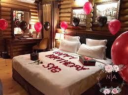 cute birthday hotel room decorations