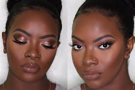 dark skin copper eyes lip makeup prom edition lets learn makeup
