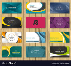 Corporate Visiting Card Design Vector Free Download Set Of Corporate Business Card Bundle
