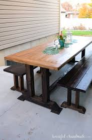 create the perfect entertaining space with these outdoor dining table plans a large picnic table