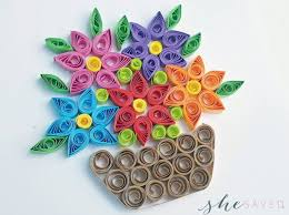 Paper Quilling Rose Flower Basket 11 Paper Quilling Patterns For Beginners
