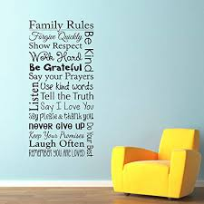 Amazon Com Family Rules Wall Decal Show Respect Use