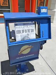 Used Newspaper Vending Machine Cool DC Universe Revealed To Public At Six Flags Magic Mountain The