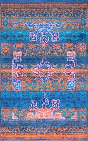 nuloom vintage lakenya navy blue area rug 8 x 10