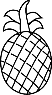 Ripe Pineapple Fruit | fruits coloring pages | Pinterest ...