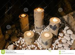 Tea Light Candle Fireplace Log Candleholders That Look Like Birch Logs Holding Replaceable