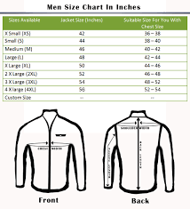 Online Shirt Size Chart Size Chart Online Leather Jackets Usa Leather Factory