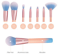 professional 7pcs super soft makeup brush set