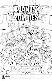 Plants Vs Zombies Coloring Pictures Zombie Printable Coloring Pages