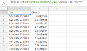 Currency Conversion In Google Sheets